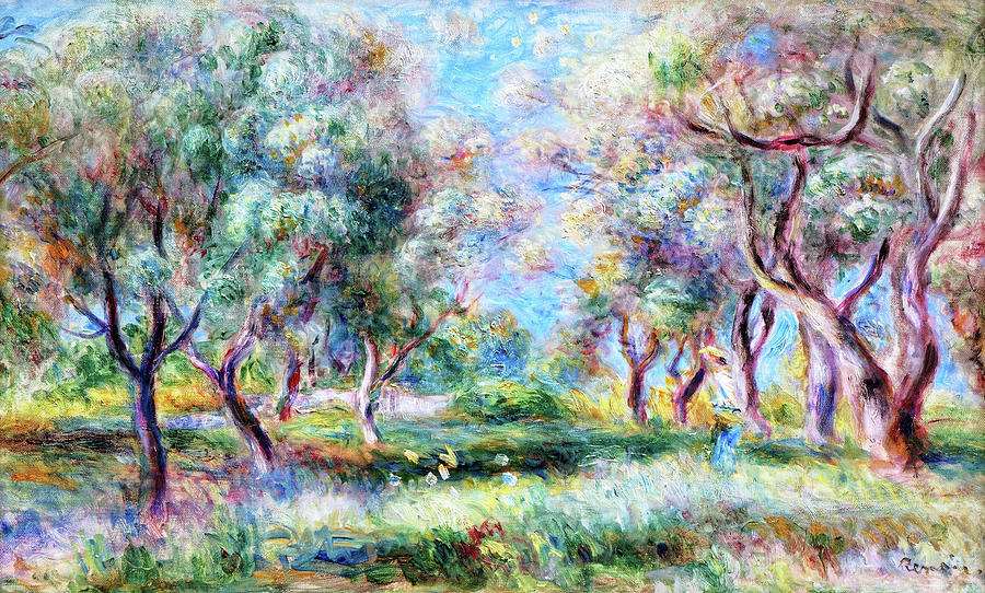 Pierre-auguste Renoir Painting - The Olive Trees Of Cagnes - Digital Remastered Edition by Pierre-Auguste Renoir