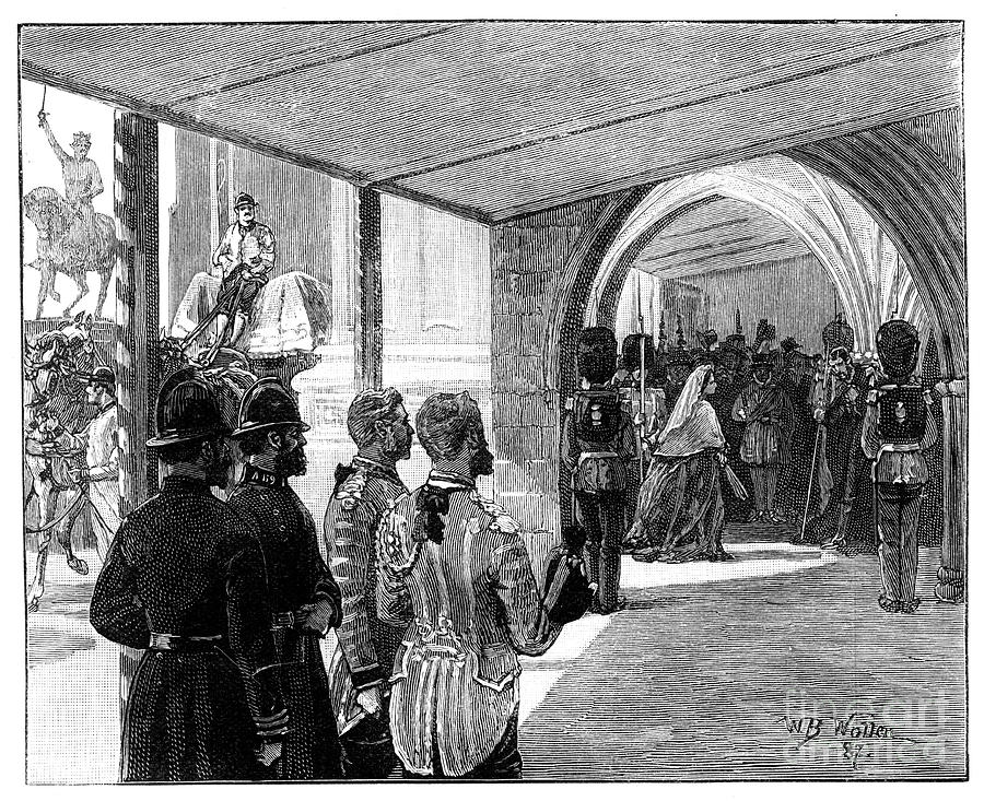 The Opening Of Parliament, Westminster Drawing by Print Collector