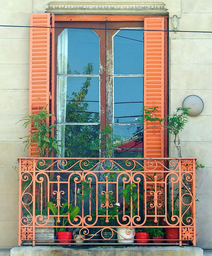 The Orange Balcony Window,  Buenos Aires by Kurt Van Wagner