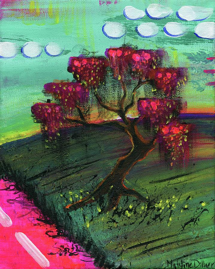 Tree Painting - The Orange Tree by Madeline Dillner