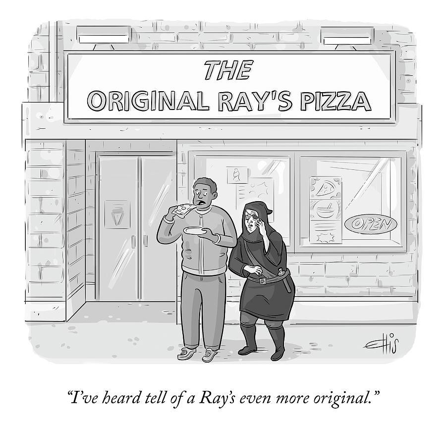 The Original Rays Drawing by Ellis Rosen