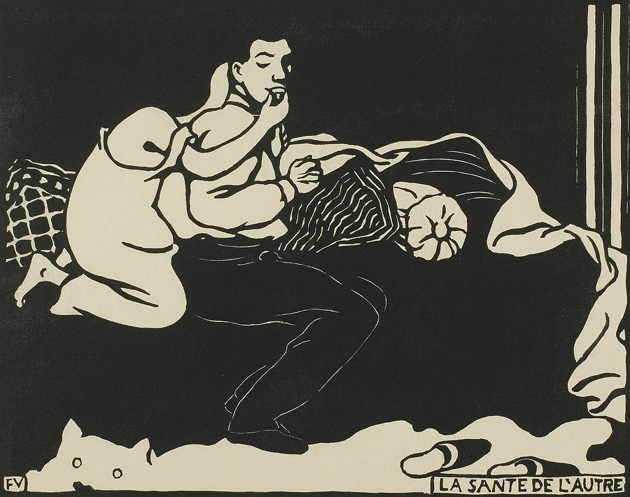 The Other's Health, plate nine from Intimacies by Felix Edouard Vallotton