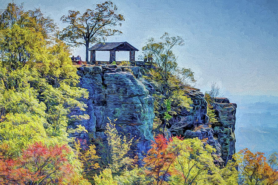 The Ozarks White Rock Mountain by JC Findley