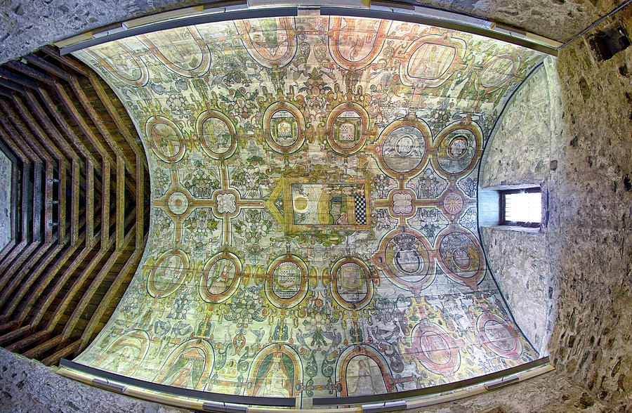 The Painted Ceiling of St Mary's Kirk - Grandtully Scotland - Chapel by Jason Politte