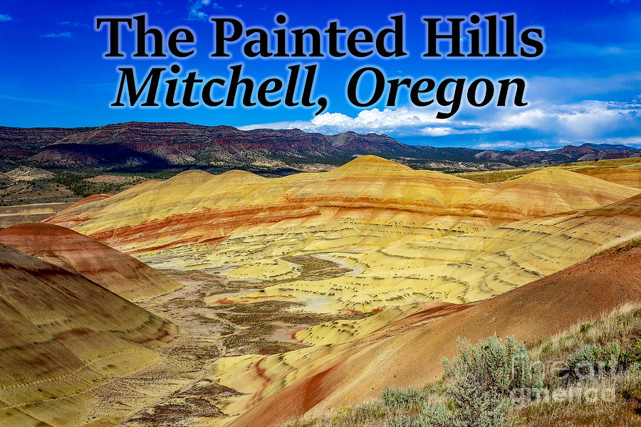 The Painted Hills Photograph - The Painted Hills Mitchell Oregon by G Matthew Laughton