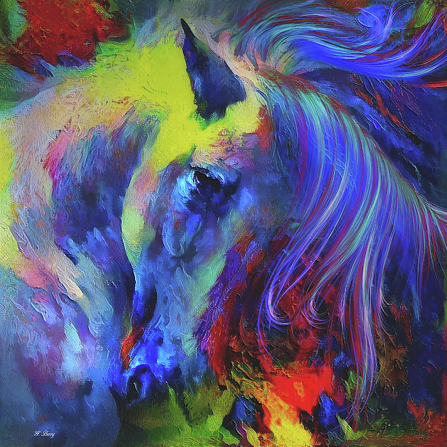 Painted Pony Mixed Media - The Painted Pony by G Berry