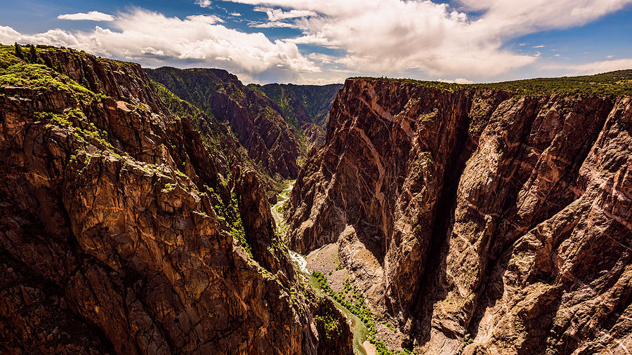 The Painted Wall of Black Canyon of the Gunnison by Brenda Jacobs