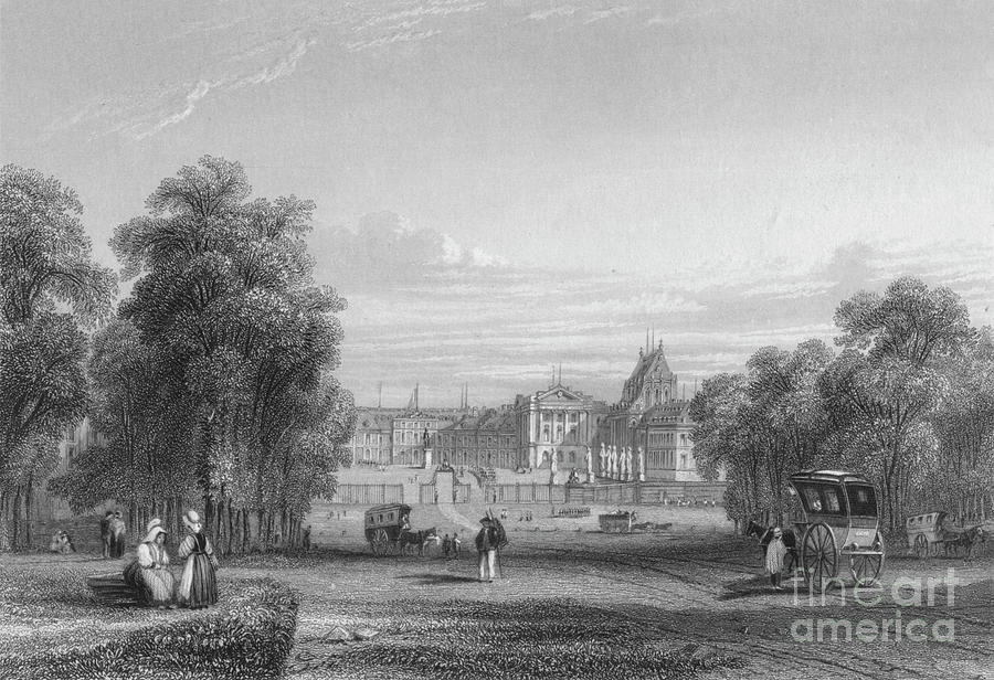 The Palace Of Versailles From The Paris Drawing by Print Collector