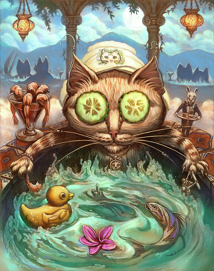 Cat Painting - The Pampered Cat by Jeff Haynie