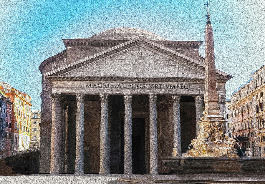 The Pantheon Rome Italy by Robert Blandy Jr