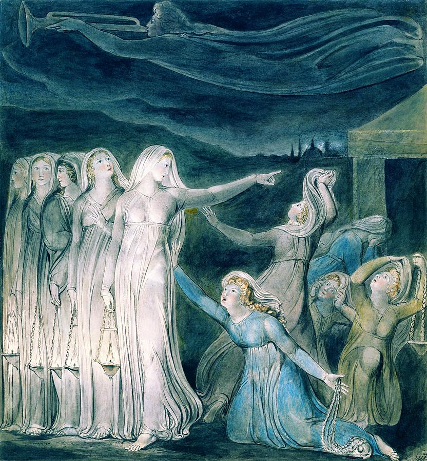 William Blake Painting - The Parable Of The Wise And Foolish Virgins - Digital Remastered Edition by William Blake