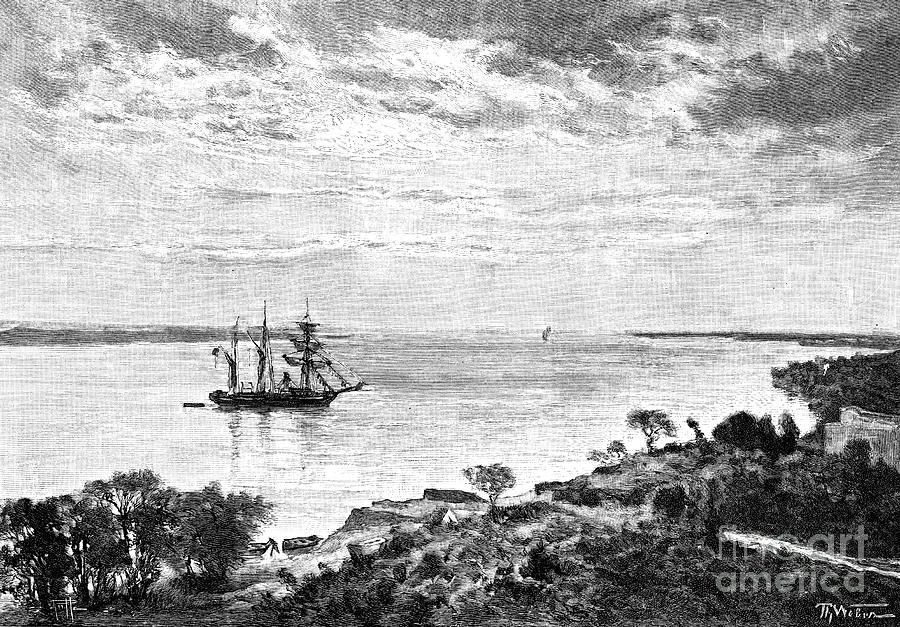 The Parana River, South America, 1895 Drawing by Print Collector
