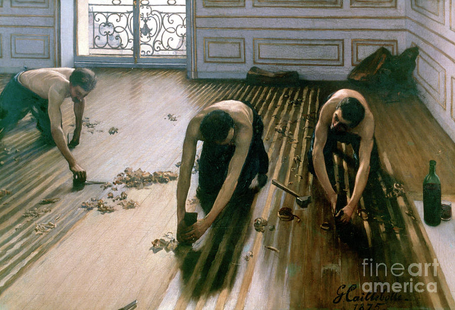 The Parquet Planers, 1875. Artist Drawing by Print Collector