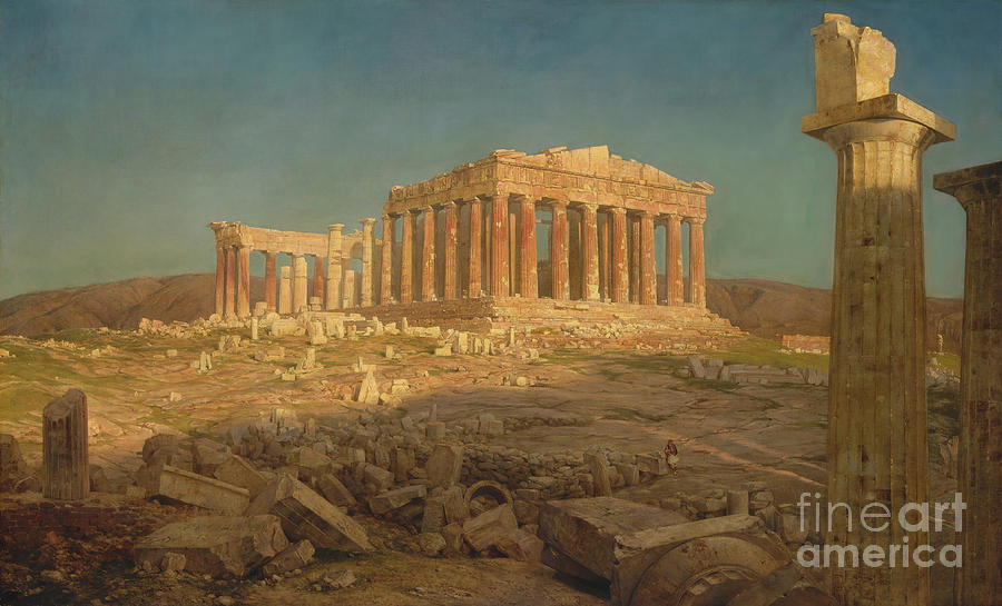The Parthenon Drawing by Heritage Images