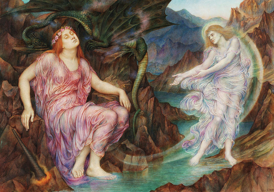 Evelyn De Morgan Painting - The Passing Of The Soul At Death, 1919 by Evelyn De Morgan