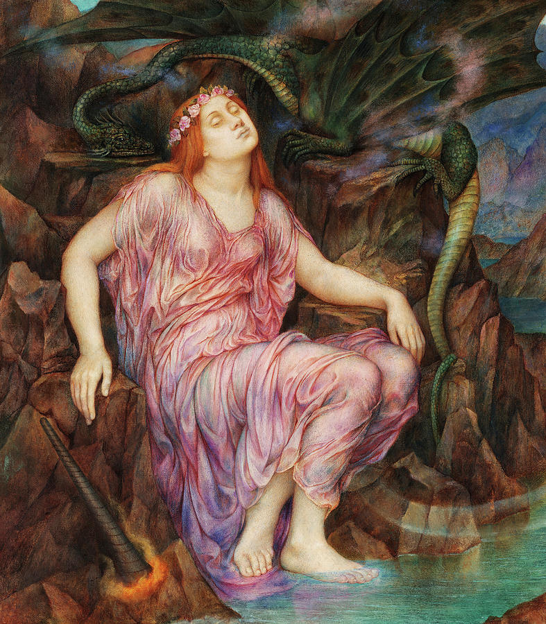 Evelyn De Morgan Painting - The Passing Of The Soul At Death, Detail by Evelyn De Morgan