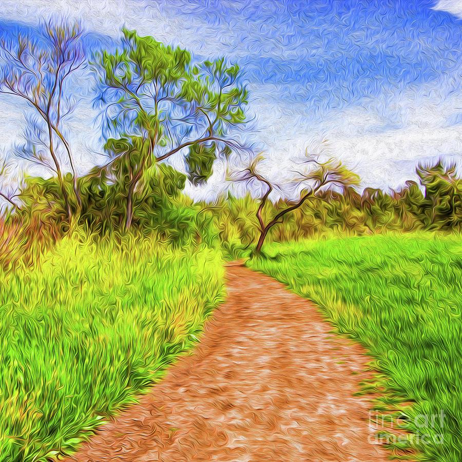 The Path that Lies Ahead Digital Art by Kenneth Montgomery