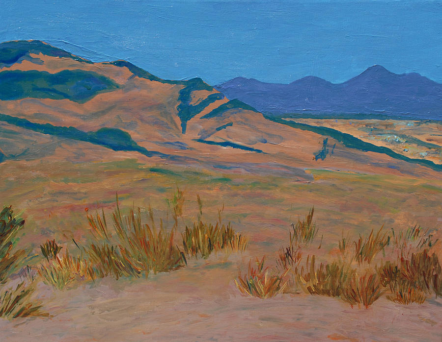 Chaparral Painting - The Path to Etiwanda by Carly Creley