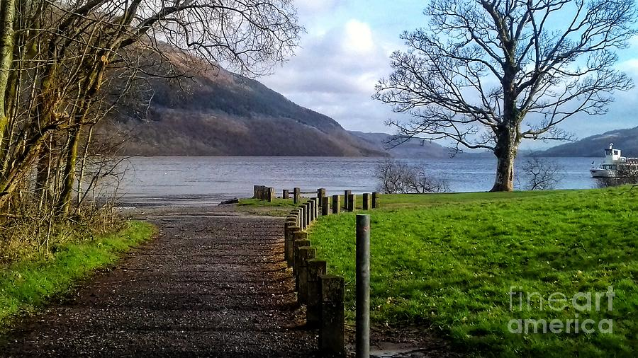 The Pathway to the Loch by Joan-Violet Stretch