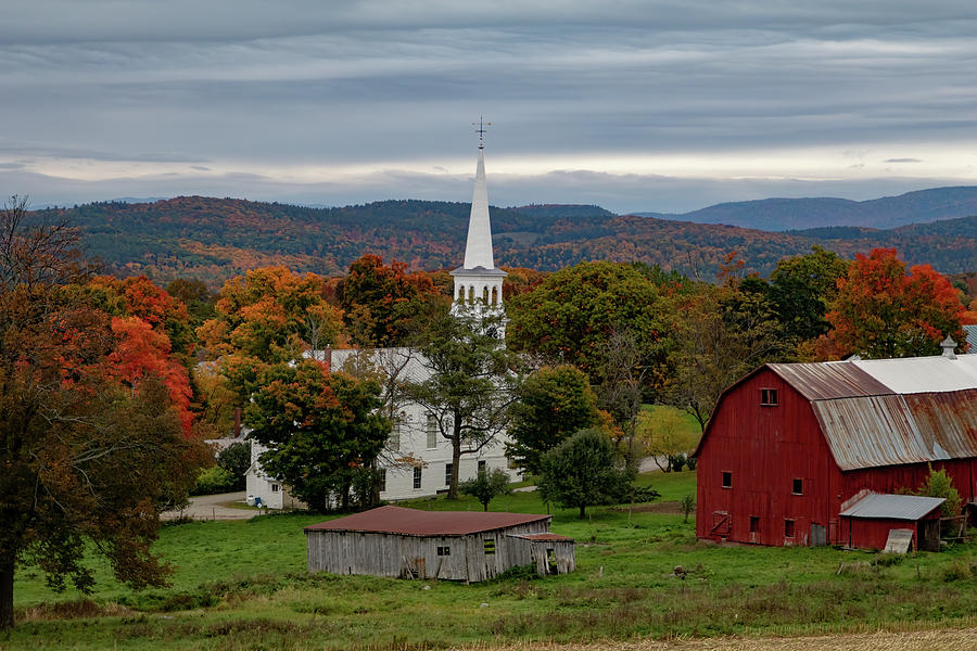 The Peacham View in Peacham Vermont by Jeff Folger