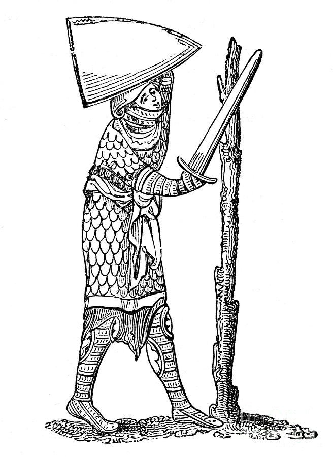 The Pel Quintain, 14th Century, 1883 Drawing by Print Collector