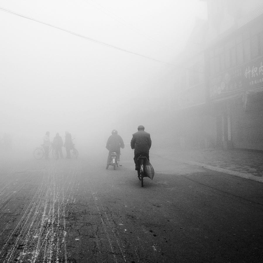 The People Rode Bikes In The Small Town Photograph by Photography By Shen Xiao Mei