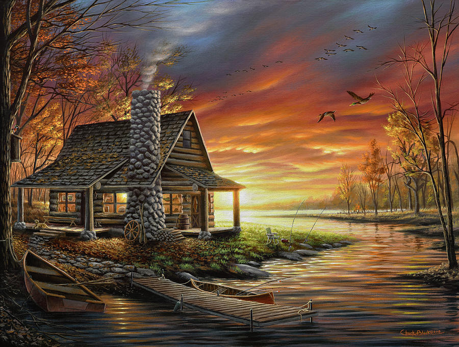 The Perfect Spot Painting - The Perfect Spot by Chuck Black