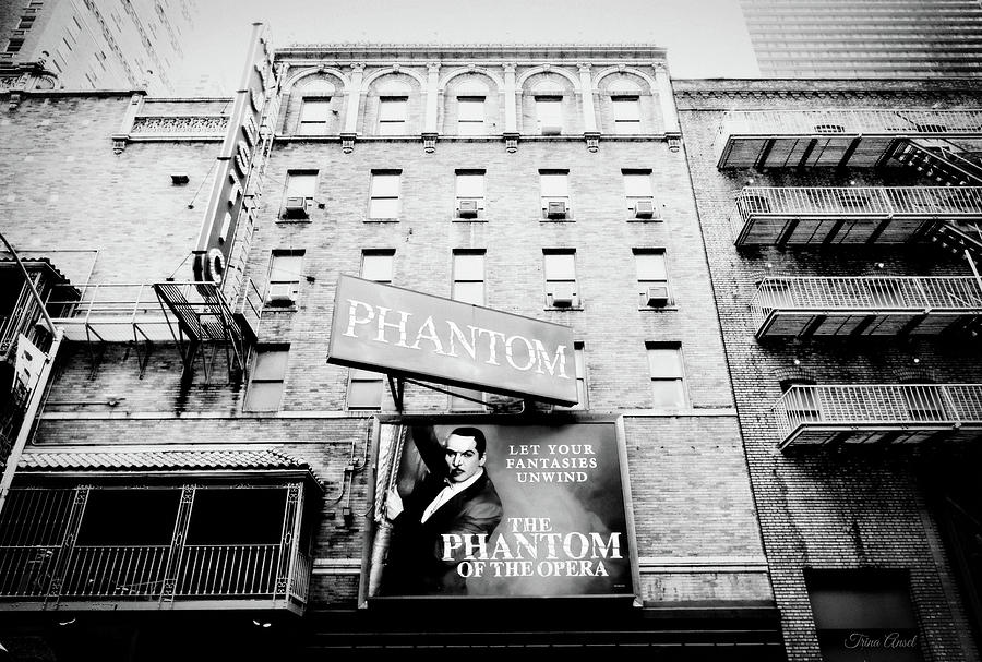 The Phantom of the Opera in Black and White by Trina Ansel