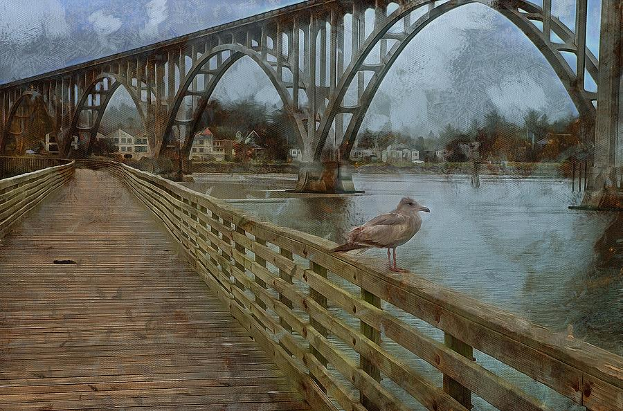 The Pier And The Seagull by Thom Zehrfeld