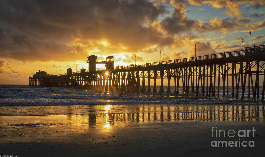 The Pier At Oceanside by Mitch Shindelbower