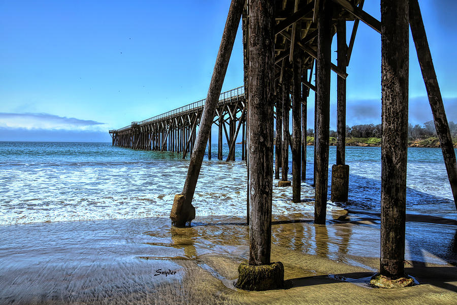 The Pier at San Simeon Home of Hearst Castle by Floyd Snyder