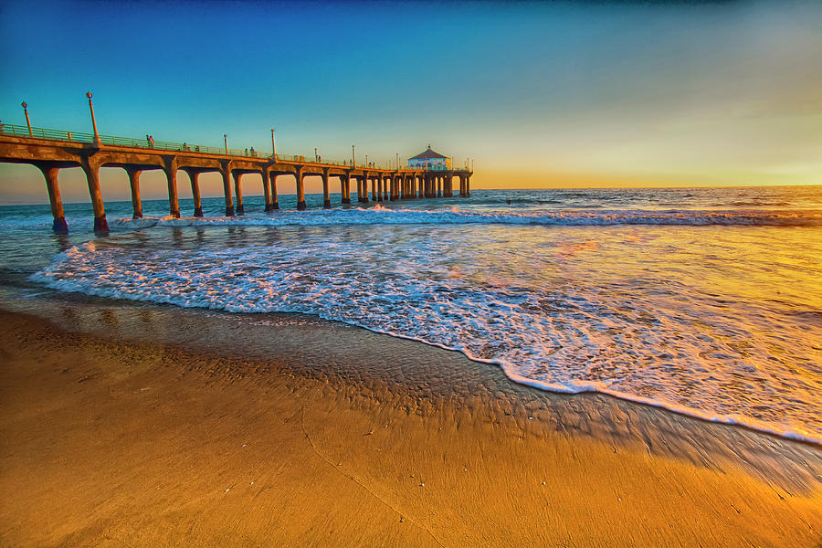 California Photograph - The Pier At Sunset by Fernando Margolles