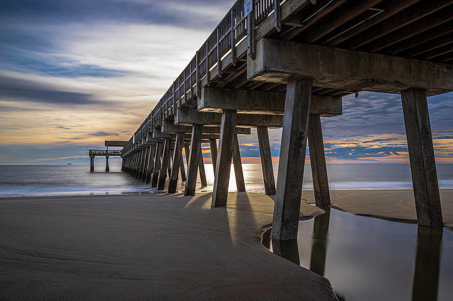 The Pier in Morning Light by Ray Silva