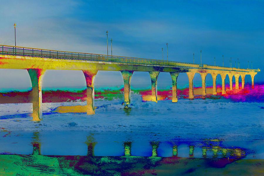 Pier Digital Art - The Pier by Shivonne Ross