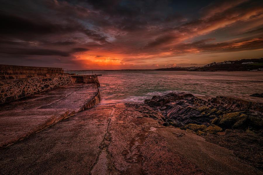 The Pier Sunset by Eddy Kinol