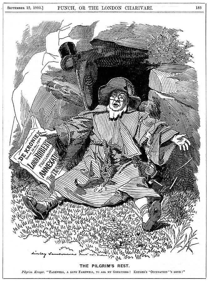 The Pilgrims Rest, Caricature Af Paul Drawing by Print Collector