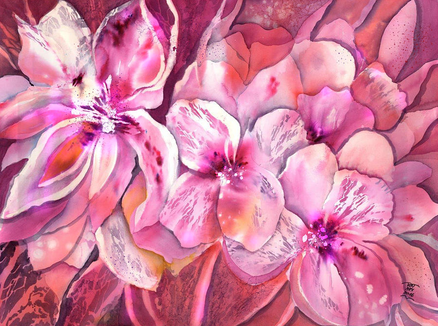 The Pink Flower Garden by Sabina Von Arx