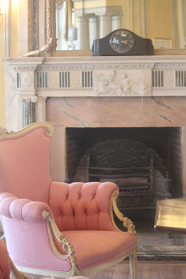The Pink Velvet Chair by The Art Of Marilyn Ridoutt-Greene