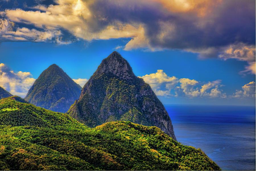 The Pitons, St. Lucia Photograph by Tom Till