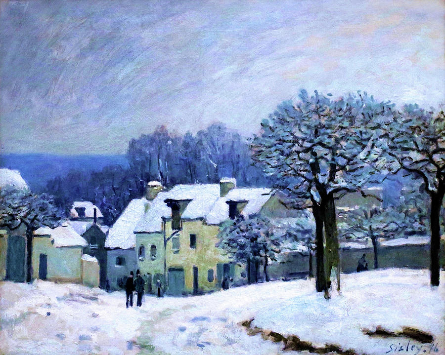 Alfred Sisley Painting - The Place Du Chenil In Marly - Digital Remastered Edition by Alfred Sisley