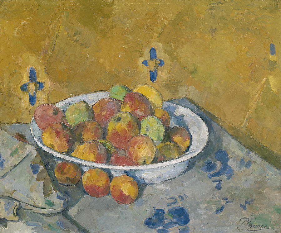 The Plate of Apples, circa 1877 by Paul Cezanne
