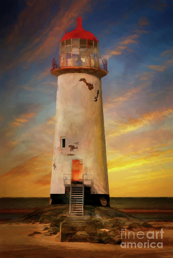 Lighthouse Photograph - The Point Of Ayr Lighthouse Sunset by Adrian Evans