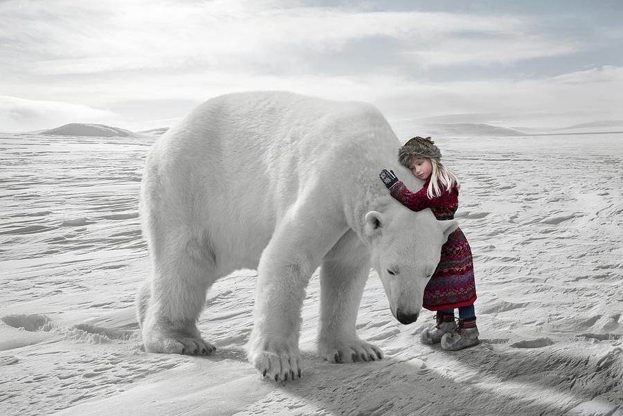 Image result for polar bear  hugging