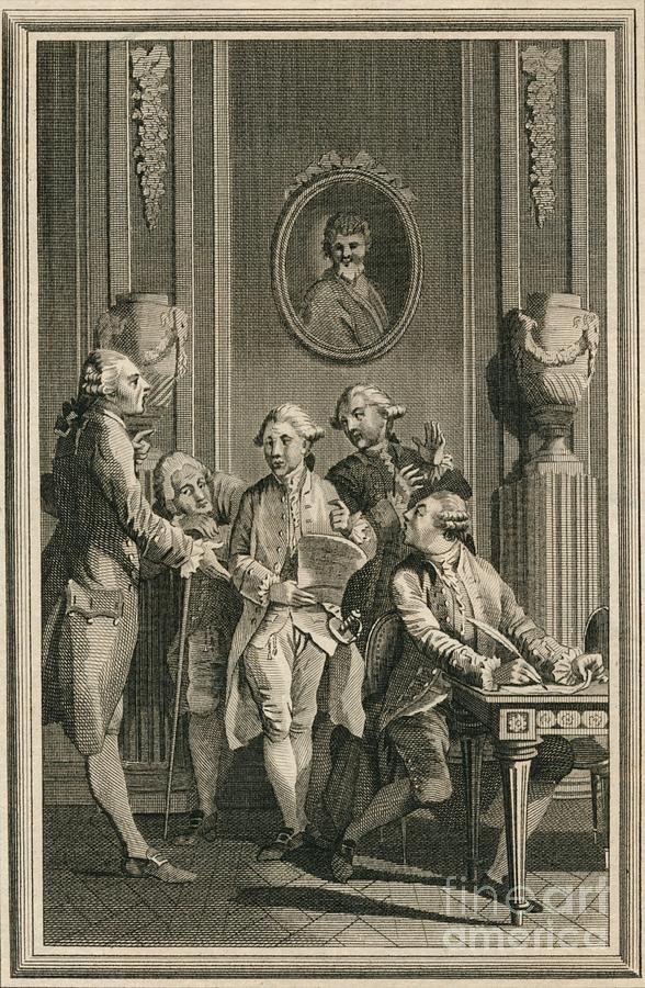 The Politicians 18th Century Creator Drawing by Print Collector