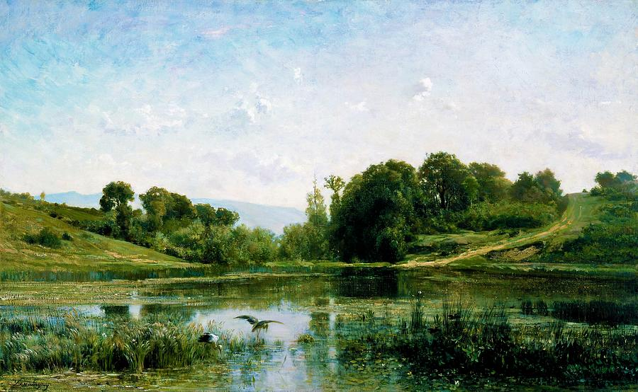 Charles-francois Daubigny Painting - The Ponds Of Gylieu - Digital Remastered Edition by Charles-Francois Daubigny