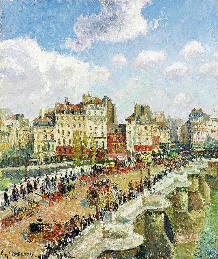 Camille Pissarro Painting - The Pont-neuf - Digital Remastered Edition by Camille Pissarro