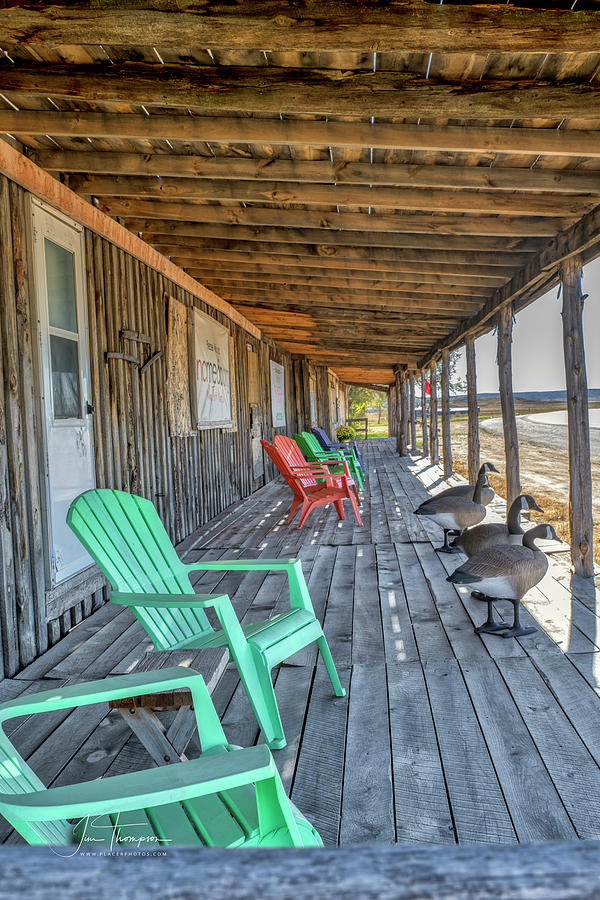 Abandoned Building Photograph - The Porch by Jim Thompson