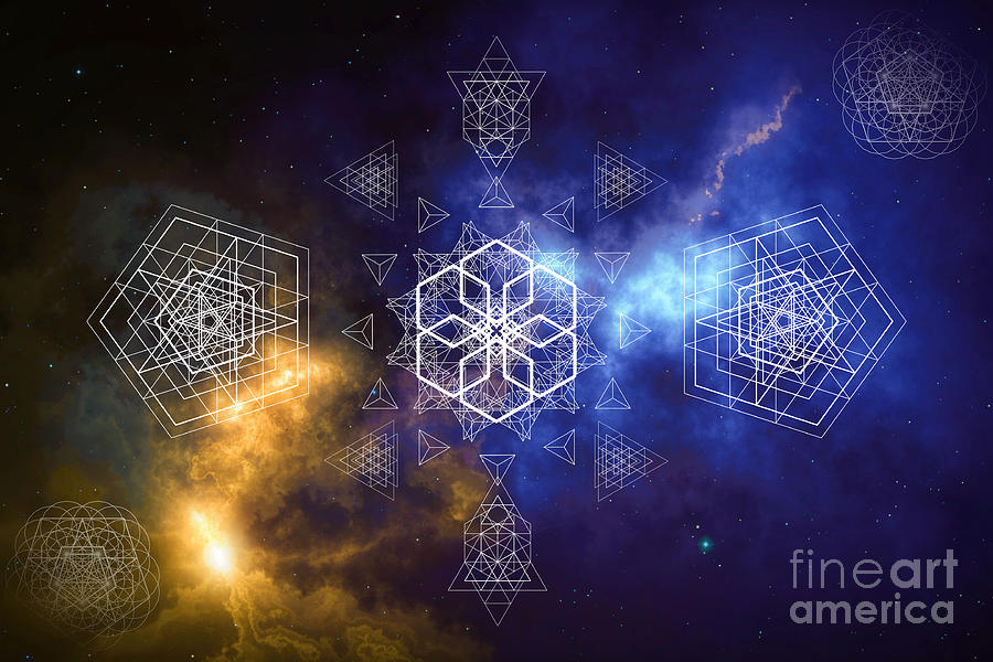 The Power is within us Sacred Geometry by Nathalie DAOUT