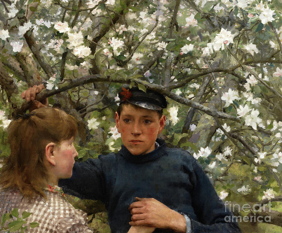 The Promise Painting - The Promise, 1888 by Henry Scott Tuke