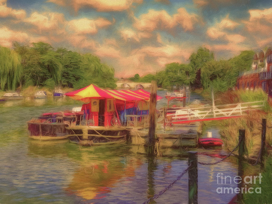 Boats Photograph - The Puppet Theatre River Thames Richmond by Leigh Kemp